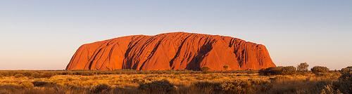 Pohoří Uluru, západ slunce